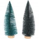 Fir Luh, 2 colors, H33cm, D12cm, petrol glitter